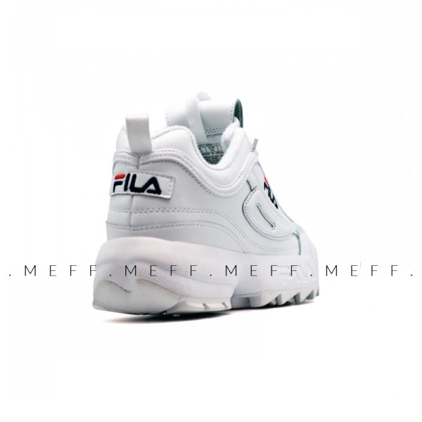 Fila	Disruptor 2 </br> White Navy Red 3