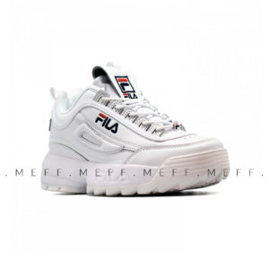 Fila	Disruptor 2 </br> White Navy Red 4
